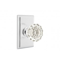 Astoria Crystal Knob Door Set w/ Rectangular Rosette (8121) by Emtek