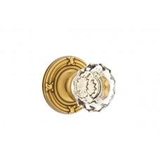 Astoria Crystal Knob Door Set w/ Ribbon & Reed Rosette (8107) by Emtek