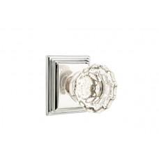 Astoria Crystal Knob Door Set w/ Wilshire Rosette (8161) by Emtek