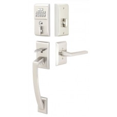 Modern Electronic Keypad Grip Entry Set (E4817) by Emtek