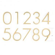 """7"""" Modern Brass #0 House Number (2830) by Emtek"""