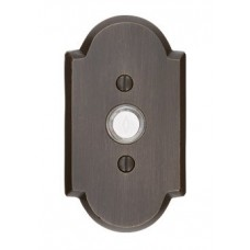 Sandcast Bronze Arched Type 1 Door Bell Button (2421) by Emtek