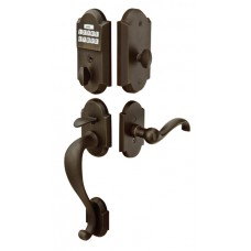 Sandcast Bronze Electronic Keypad Grip Entry Set (E451211) by Emtek