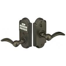 Sandcast Bronze Electronic Keypad Lever Set (E2001) by Emtek