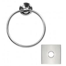 Stainless Steel Towel Ring w/Square Rosette (S7300) by Emtek