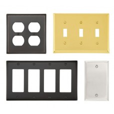 Brass Colonial Switch Plate (Various Layouts) by Emtek