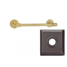 """Transitional Brass 12"""" Towel Bar w/Quincy Rosette (29025) by Emtek"""