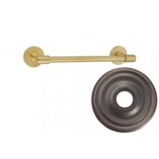"""Transitional Brass 12"""" Towel Bar w/Small Regular Rosette (29025) by Emtek"""