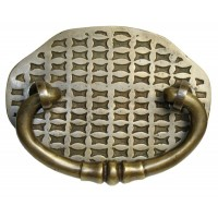 Bail w/ Basket Weave Backplate Bail Pull - Custom Finishes (HBA2030) by Gado Gado