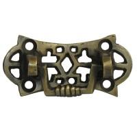 Ornate Rectangular Bail w/ Ornate Pierced Backplate Bail Pull - Custom Finishes (HBA7006) by Gado Gado