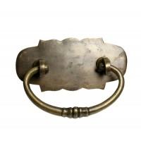Carved Bail w/ Flat Cloud Backplate Bail Pull - Custom Finishes (HBA7020) by Gado Gado