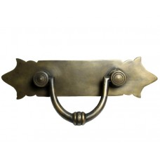 Carved Bail w/ Shaped Backplate Bail Pull - Antique Brass (HBA7026) by Gado Gado