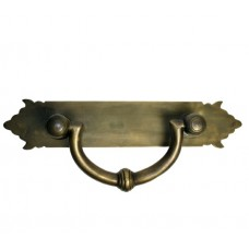 Carved Bail w/ Shaped Backplate Bail Pull - Antique Brass (HBA7030) by Gado Gado