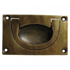 Rectangular Recessed Bin Pull - Antique Brass (HBP4010) by Gado Gado