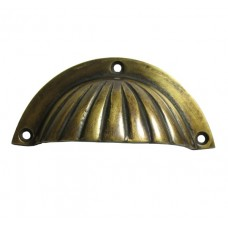 Shell Bin Pull - Antique Brass (HBP7014) by Gado Gado