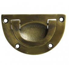 Round Recessed Bin Pull - Antique Brass (HBP7020) by Gado Gado