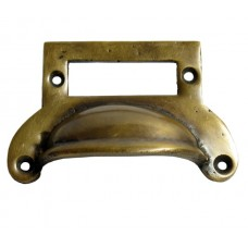Label Slot Bin Pull - Antique Brass (HBP7022) by Gado Gado