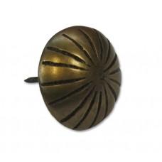 Ribbed Round Clavos - Antique Brass (HCL1136) by Gado Gado