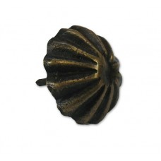 Carved Rib Round Clavos - Antique Brass (HCL1138) by Gado Gado