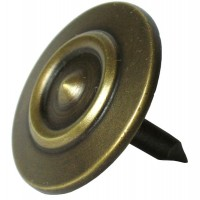 Small Double Ring Round Clavos - Custom Finishes (HCL1144) by Gado Gado