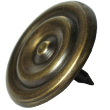Medium Double Ring Round Clavos - Antique Brass (HCL1146) by Gado Gado