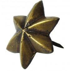 6 Point Star Clavos - Antique Brass (HCL1152) by Gado Gado