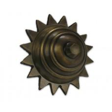 Large Carved Star Round Clavos - Antique Brass (HCL1158) by Gado Gado