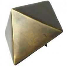 4 Sided Pyramid Clavos - Antique Brass (HCL1206) by Gado Gado