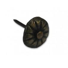 Round Ribbed w/ Loose Nail Clavos - Antique Brass (HCL1244) by Gado Gado