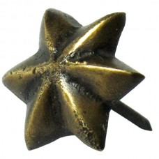 6 Point Star Clavos - Antique Brass (HCL1250) by Gado Gado