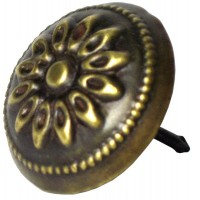 Floral Carved Round Clavos - Custom Finishes (HCL1260) by Gado Gado