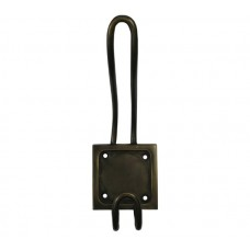 Square Back Double Hooks - Antique Brass (HHK7044) by Gado Gado
