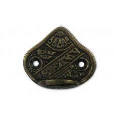 Carved Triangle Back Hooks - Antique Brass (HHK7080) by Gado Gado