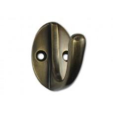 Oval Back Rounded Hooks - Antique Brass (HHK7082) by Gado Gado