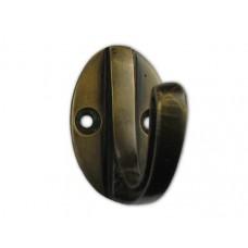 Oval Back Carved Side Hooks - Antique Brass (HHK7084) by Gado Gado