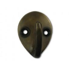 Small Teardrop Single Hooks - Antique Brass (HHK7088) by Gado Gado