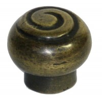 Spiral Front Cabinet Knob - Custom Finishes (HKN1010) by Gado Gado