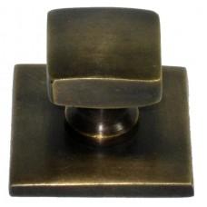 Square Cabinet Knob - Antique Brass (HKN3012) by Gado Gado
