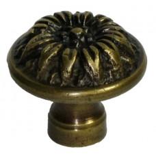 Flower Cabinet Knob - Antique Brass (HKN6016) by Gado Gado