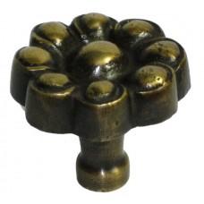 Flower Cabinet Knob - Antique Brass (HKN6018) by Gado Gado