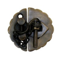 Plain Round Latch w/ Chain Latch - Custom Finishes (HLA1012) by Gado Gado