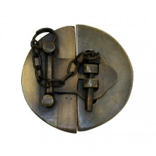 Plain Round Latch w/ Chain Latch - Antique Brass (HLA1014) by Gado Gado