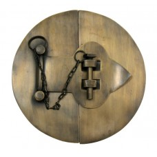 Plain Round Latch w/ Chain Latch - Antique Brass (HLA1020) by Gado Gado