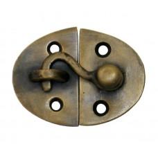 Oval Latch w/ Hook Latch - Antique Brass (HLA2010) by Gado Gado