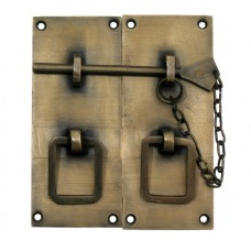 Two Piece Lock w/ Chain Latch - Antique Brass (HLA3010) by Gado Gado