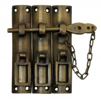Three Piece Lock w/ Chain Latch - Custom Finishes (HLA7014) by Gado Gado