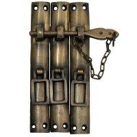 Three Piece Lock w/ Chain Latch - Custom Finishes (HLA7016) by Gado Gado