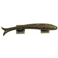 Left Carved Fish Drawer Pull - Custom Finishes (HPU7025L) by Gado Gado