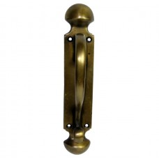 Vertical Scroll Drawer Pull - Antique Brass (HPU8024) by Gado Gado