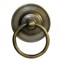 Round Ring w/ Round Tiered Backplate Ring Pull - Custom Finishes (HRP1018) by Gado Gado